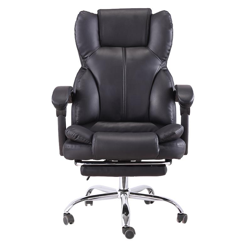 Scaun directorial, suport picioare, funcție recliner, SIB 818 Negru